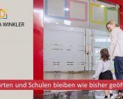 Kindergaerten und Schulen bleiben offen